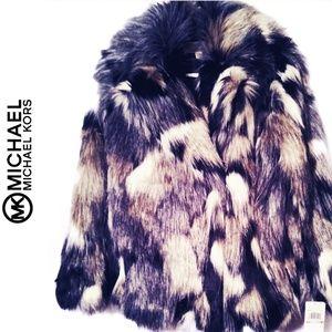 Michael Kors Faux Fur Patchwork Coat Sz Small NWT
